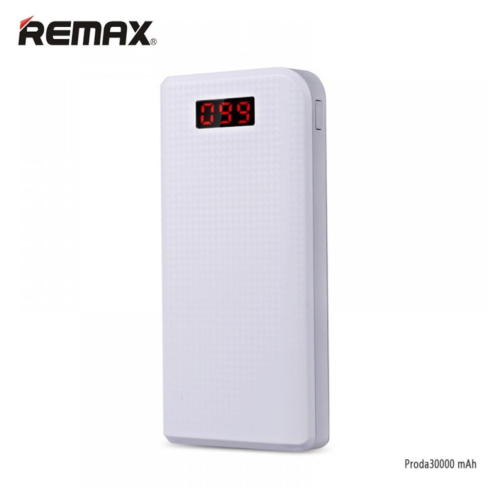 Power bank 30 000 mAh, Remax Proda, bílá barva