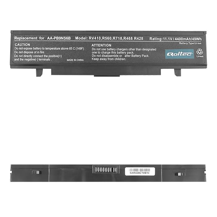 Qoltec Long Life baterie pro notebooky SAMSUNG R580, 11.1V | 4400mAh