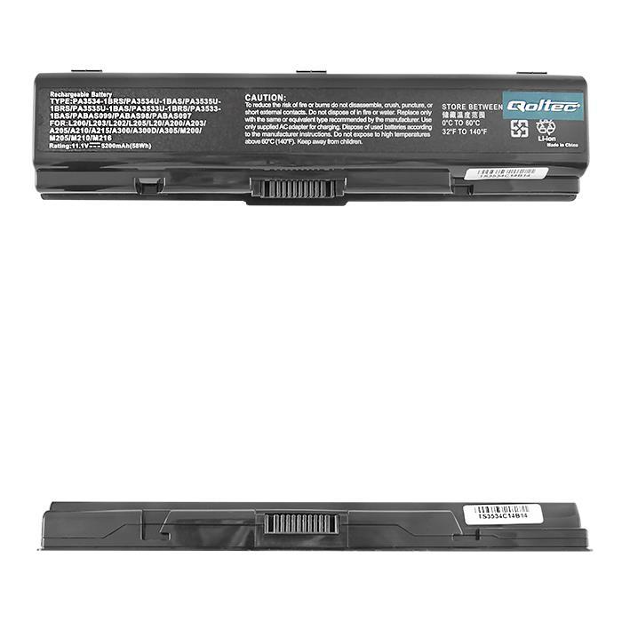 Qoltec Long Life baterie pro notebooky Toshiba A200 A300, 10.8V | 5200mAh