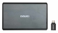 """EVOLVEO 2.5"""" Tiny 2, 10Gb/s, externí rámeček na HDD, USB A 3.1 + redukce USB A/USB C"""