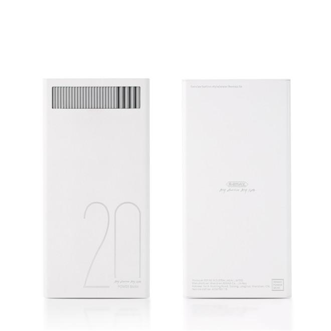 Power Bank 20.000mAh, Remax RPL-58, bílá