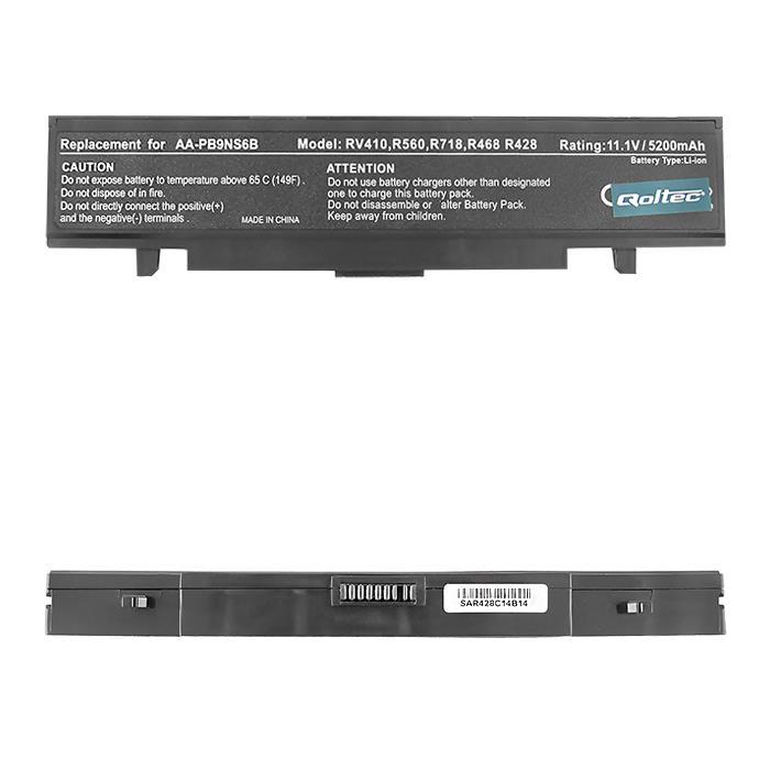 Qoltec Long Life baterie pro notebooky Samsung R580, 11.1V | 5200mAh