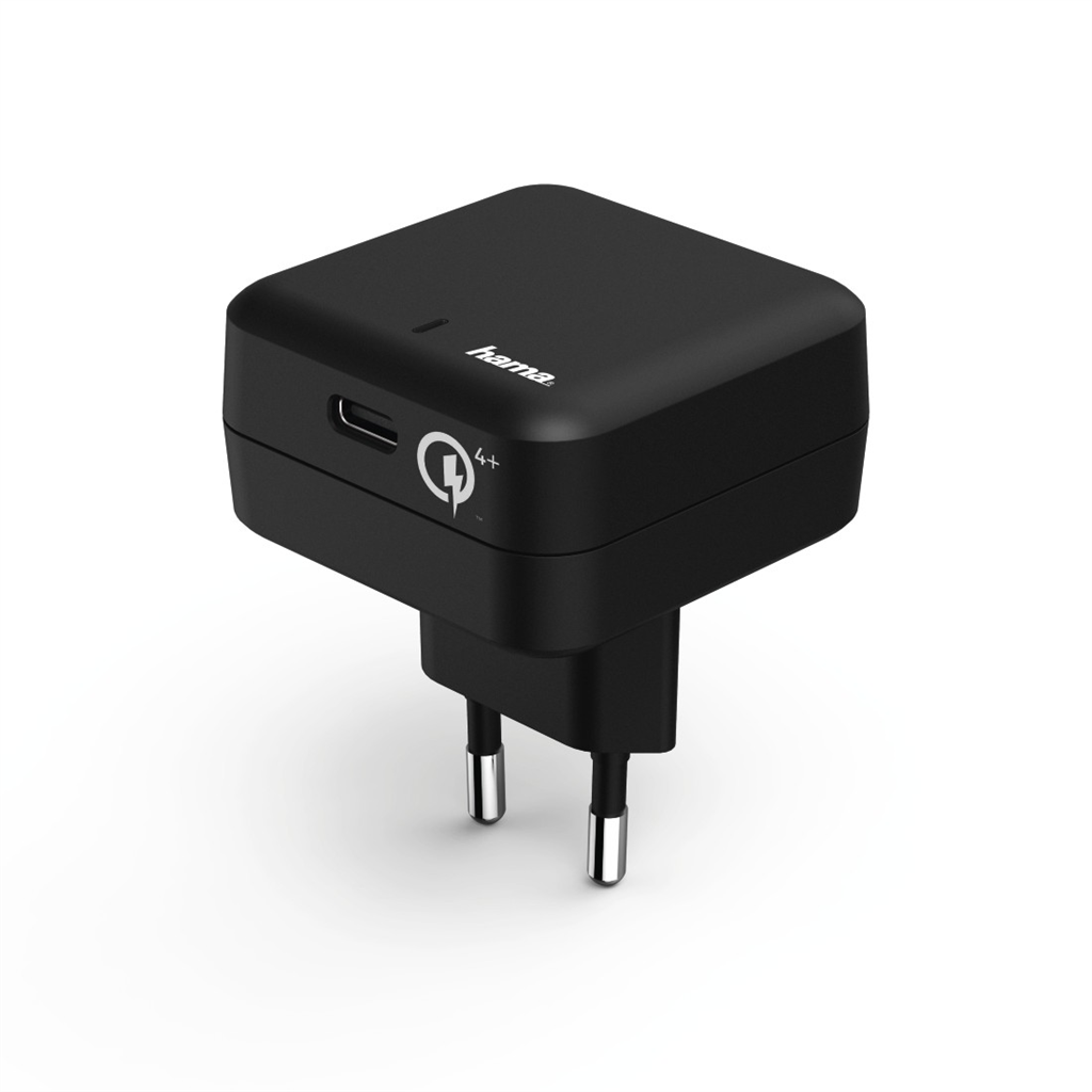 Hama rychlá USB nabíječka, USB-C, Quick Charge 4+ / Power Delivery, 27 W