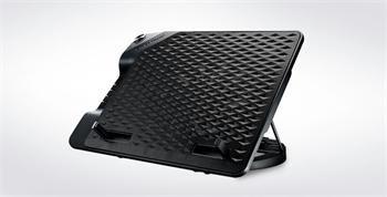 "Coolermaster chladicí podstavec NotePal ErgoStand III pro NTB do 17"", USB hub, black, 23cm fan"
