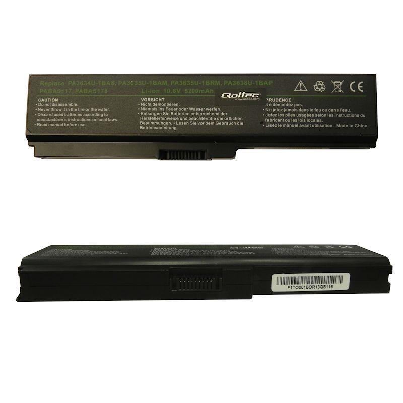 Qoltec Long Life baterie pro notebooky Toshiba PA3634, 10.8-11.1V | 5200mAh