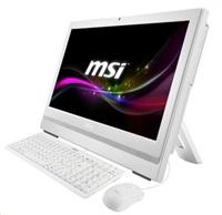 "MSI AIOAP200-208XEU white 20"" multi-Touch/G3250/H81/4GB/HD4400/500GB/DVDRW/USB3/3in1/1Mpx/no-OS"
