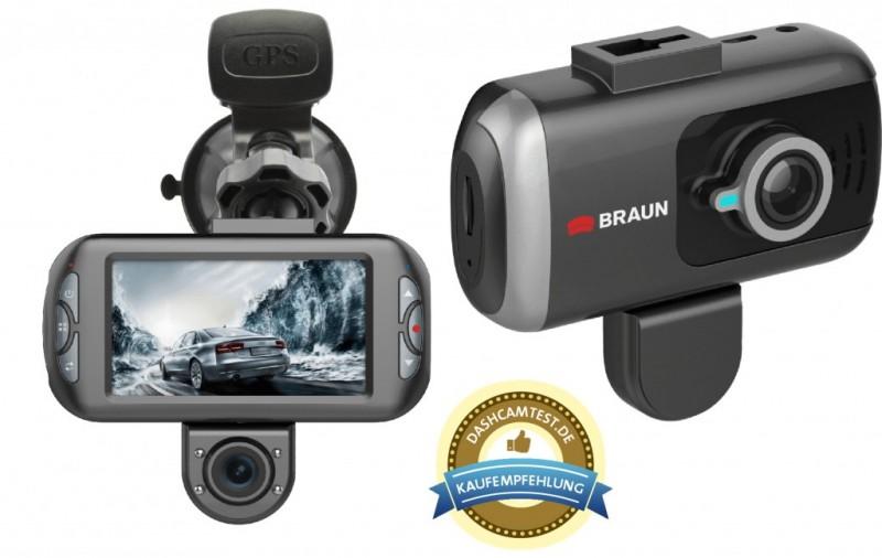 Braun B-Box T7 kamera do auta, duální (přední/zadní), GPS