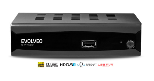 EVOLVEO Alpha HD, HD DVB-T multimediální rekordér, HDMI, Scart, USB, MKV/MOV/MPEG/MP3/WMA/JPEG