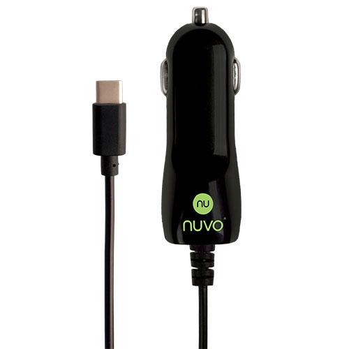 NUVO autonabíječka USB Type C 2.1A, černá