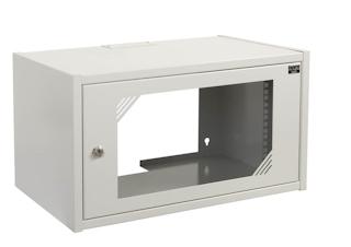 apra-optinet Závěsný rack ecoVARI LC 19'' 6U/350mm, jednodílna, skleněné dveře