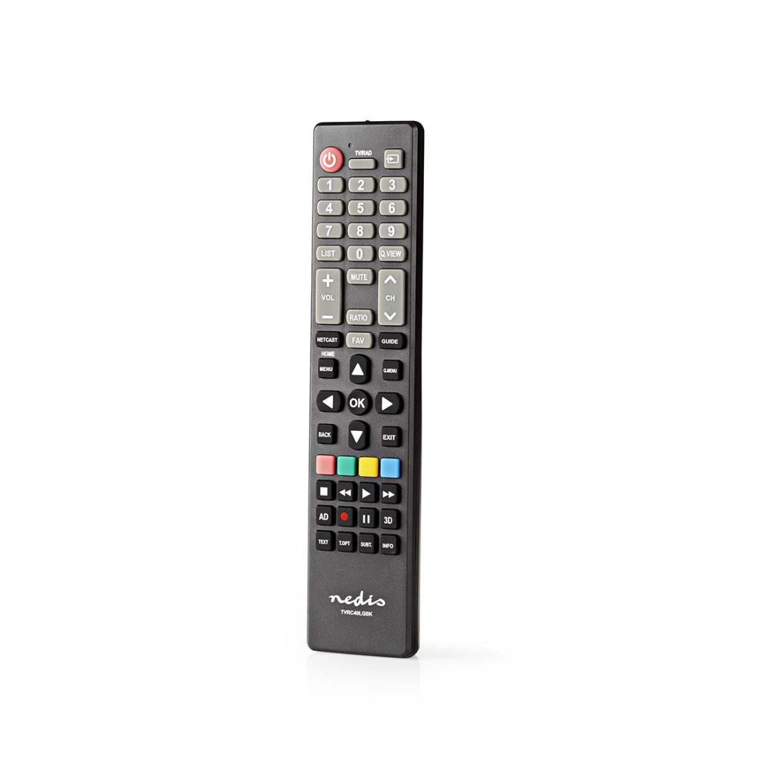 Nedis TVRC40LGBK - Náhradní Dálkový Ovladač | LG TV | Připraveno k Použití