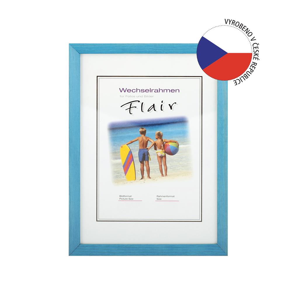 Hama rámeček dřevěný EVA, modrá, 13x18 cm