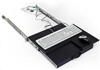 TRITON Police výsuvná/otočná pro klávesnici a myš, černá