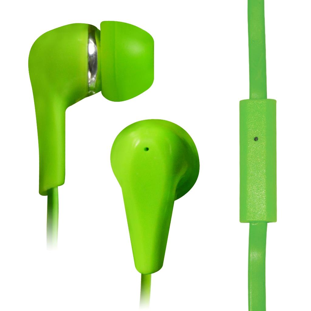 VAKOSS Stereofonní sluchátka s mikrofonem, do uší, silikonová SK-219EE zelená