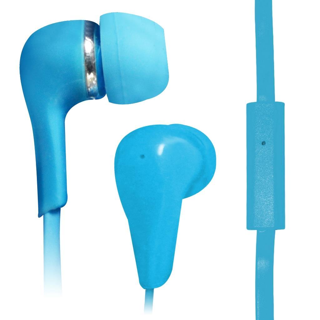VAKOSS Stereofonní sluchátka s mikrofonem, do uší, silikonová SK-219EB modrá