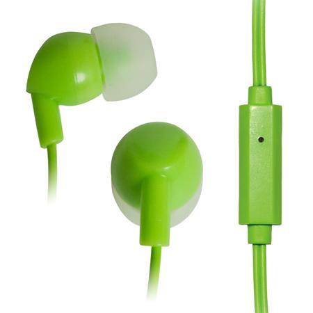 VAKOSS Stereofonní sluchátka s mikrofonem, do uší, silikonová SK-211EE zelená