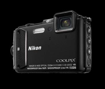 NIKON kompakt Coolpix AW130, 16MPix, 5x zoom - černý