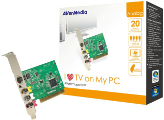 AVerMedia Tuner TV analog AVerTV Super 009, FM, PCI