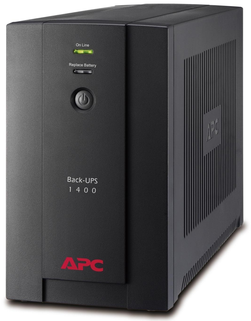 APC Back-UPS 1400VA (700W), AVR, USB, IEC zásuvky