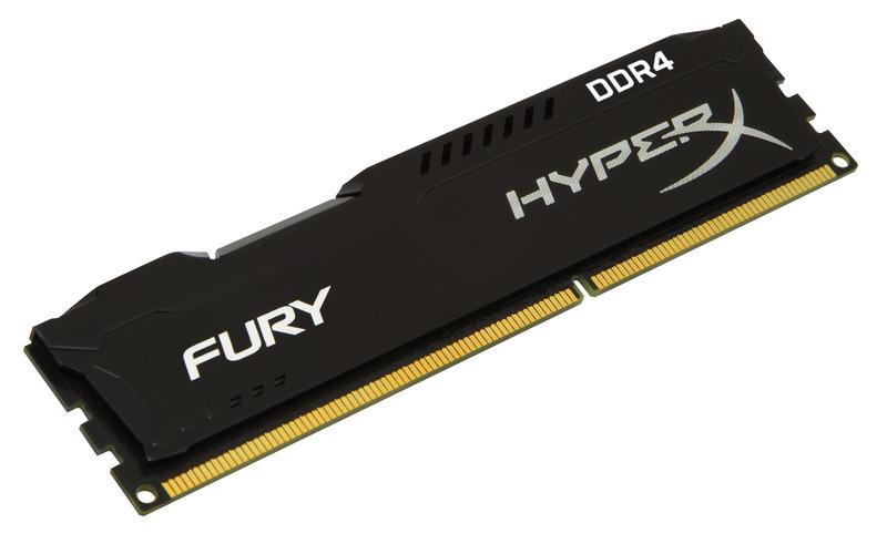 DIMM DDR4 16GB 2666MHz CL15 (Kit of 4) KINGSTON HyperX FURY Black