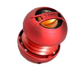 X-mini UNO keramický přenosný mono reproduktor, červený