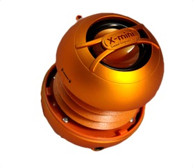 X-mini UNO keramický přenosný mono reproduktor, oranžový