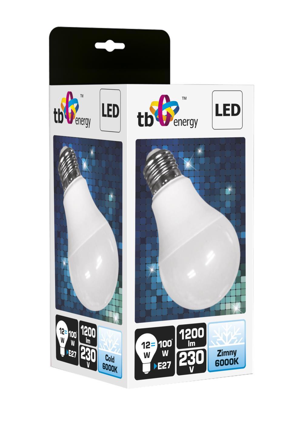 LED žárovka TB Energy E27, 230V,12W,Studená bílá
