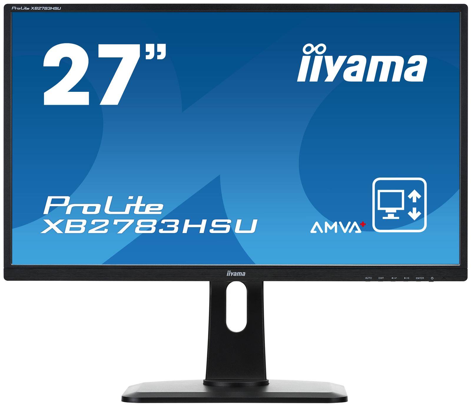 """27"""" LCD iiyama XB2783HSU-B1DP -AMVA+,4ms,300cd,3000:1,FHD,VGA,DVI,DP,USB,repro,pivot,výšk.nast."""