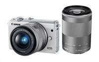 Canon EOS M100 White + EF-M 15-45mm f/3.5-6.3 IS STM + EF-M 55-200mm f/4.5-6.3 IS STM + čistíčí hadřík