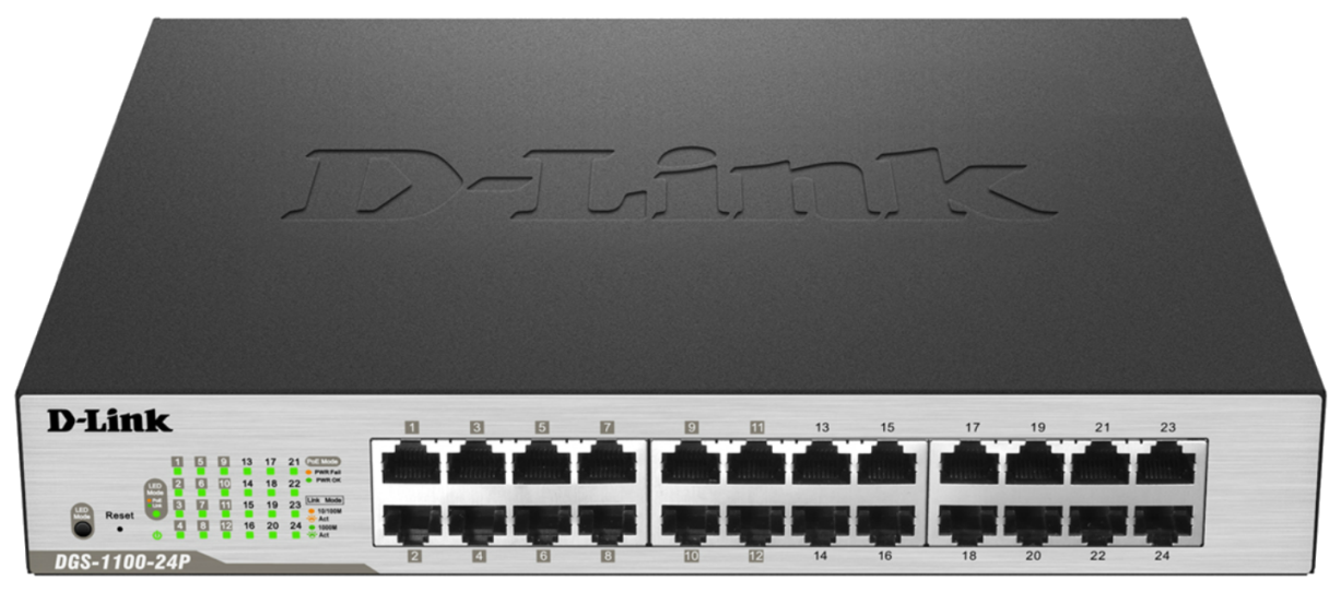 D-Link DGS-1100-24P Easy Smart Switch 10/100/1000