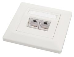Solarix Zásuvka CAT5e UTP 2 x RJ45 pod omítku bílá