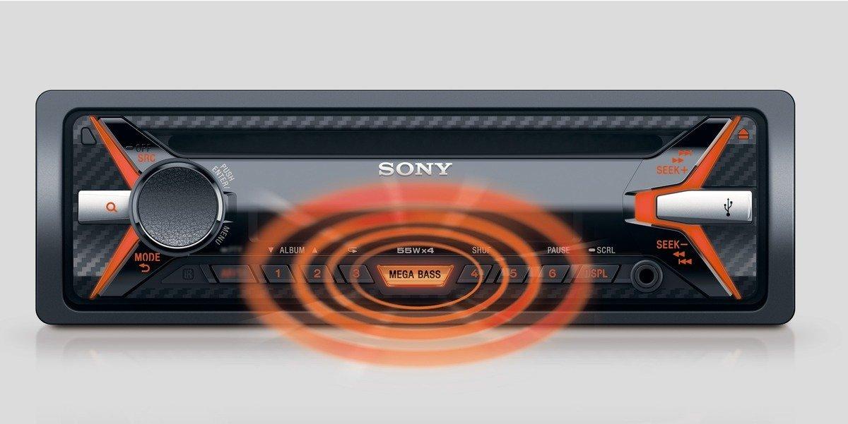 SONY CDX-G1101 Přehrávač CD a MP3, USB, AUX vstup - ORANGE