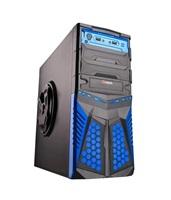 C-TECH herní skříň HADES (GC-01), černo-modrá