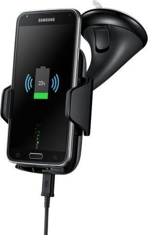 Samsung držák do auta univerzální s funkcní bezdrátového nabíjení EP-HN910I, černá