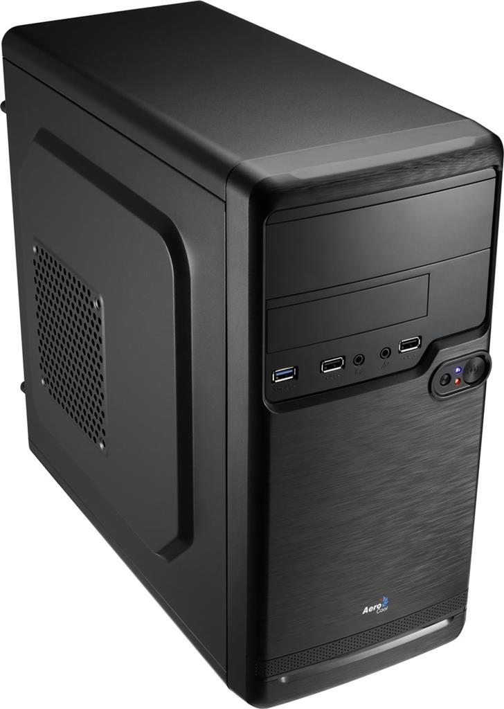 PC skříň Aerocool PGS QS-182 BLACK, USB3, Kensington Lock (bez zdroje)