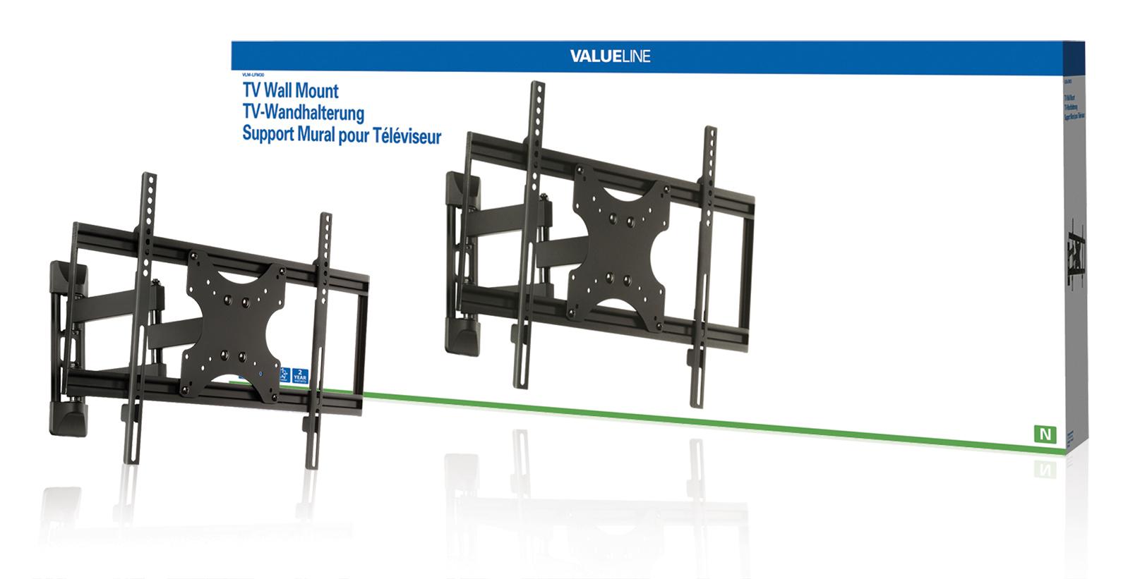 Valueline Nástěnný držák televizoru, full motion, 42-65'' / 107-165 cm, 50 kg