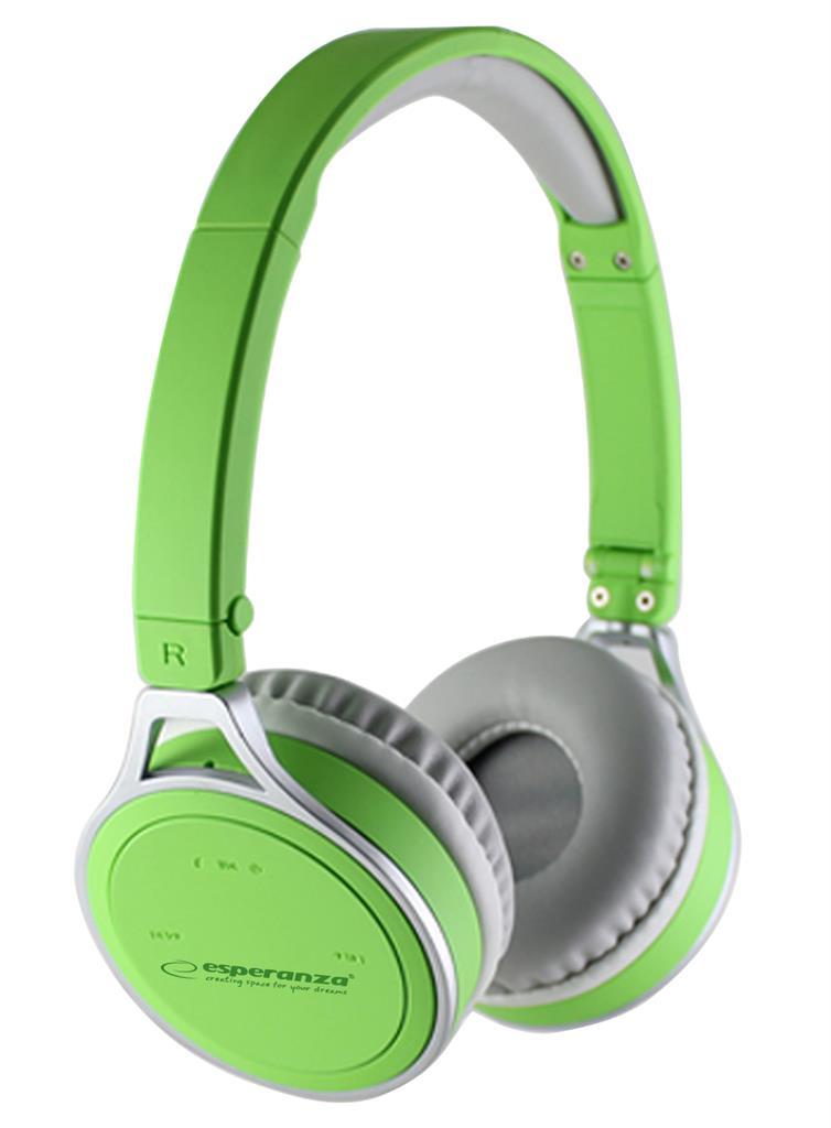 Esperanza YOGA Bluetooth 2.1 stereo sluchátka, zelená