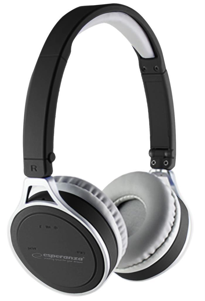 Esperanza YOGA Bluetooth 2.1 stereo sluchátka, černá