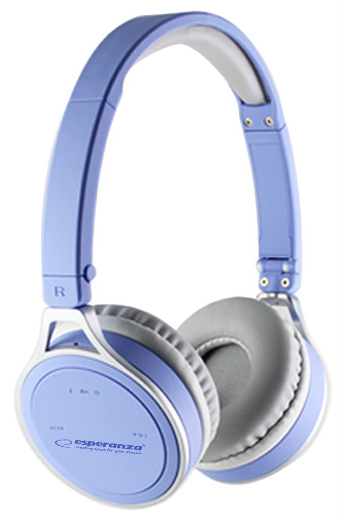 Esperanza YOGA Bluetooth 2.1 stereo sluchátka, modrá