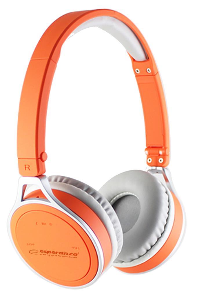 Esperanza YOGA Bluetooth 2.1 stereo sluchátka, oranžová