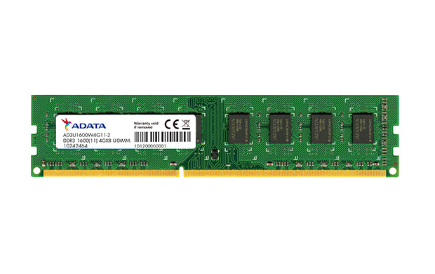 4GB DDR3 1600MHz ADATA CL11 single tray