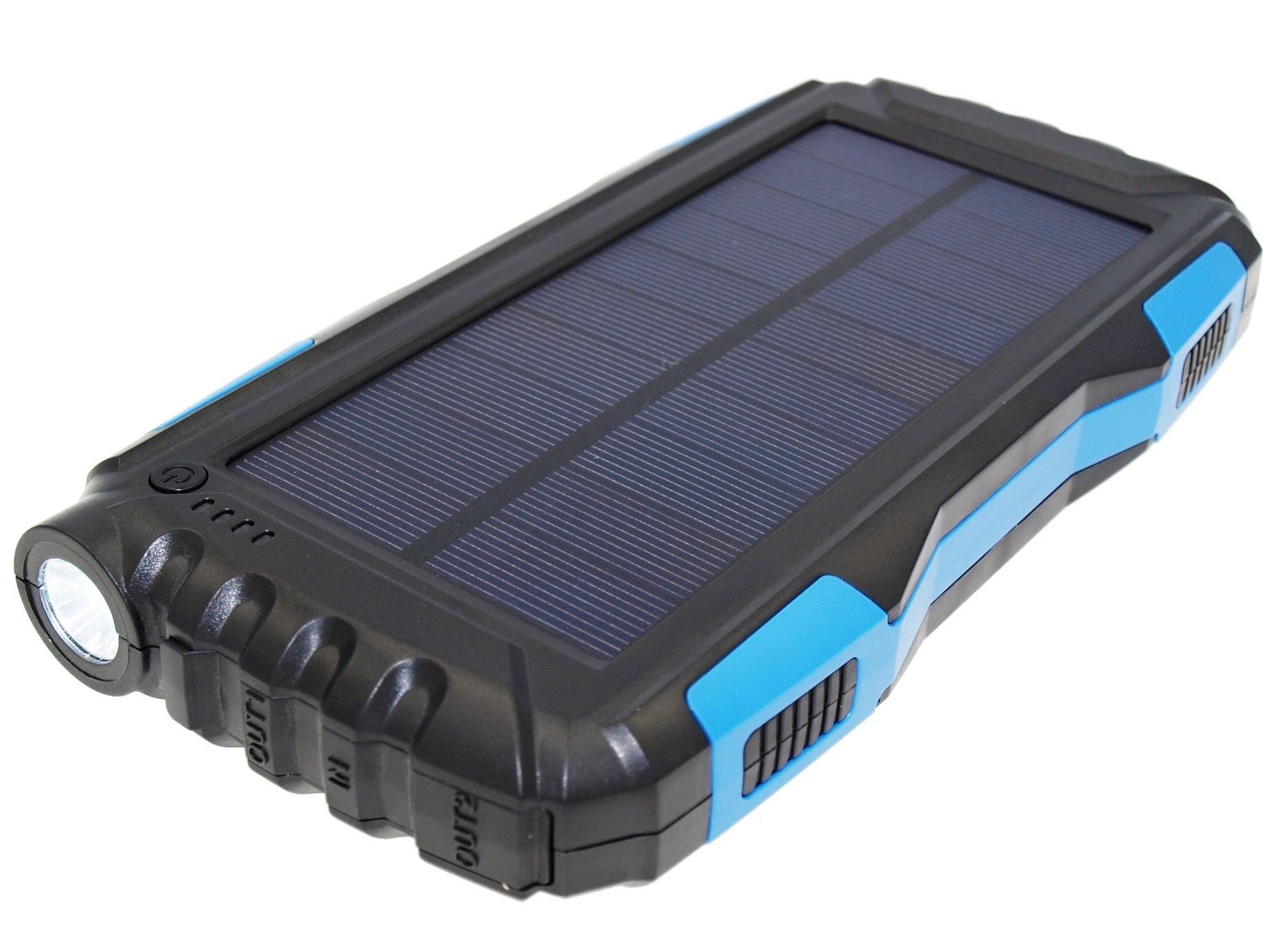 VIKING Solární Outdoorová Powerbanka B-25 25000mAh, Modrá