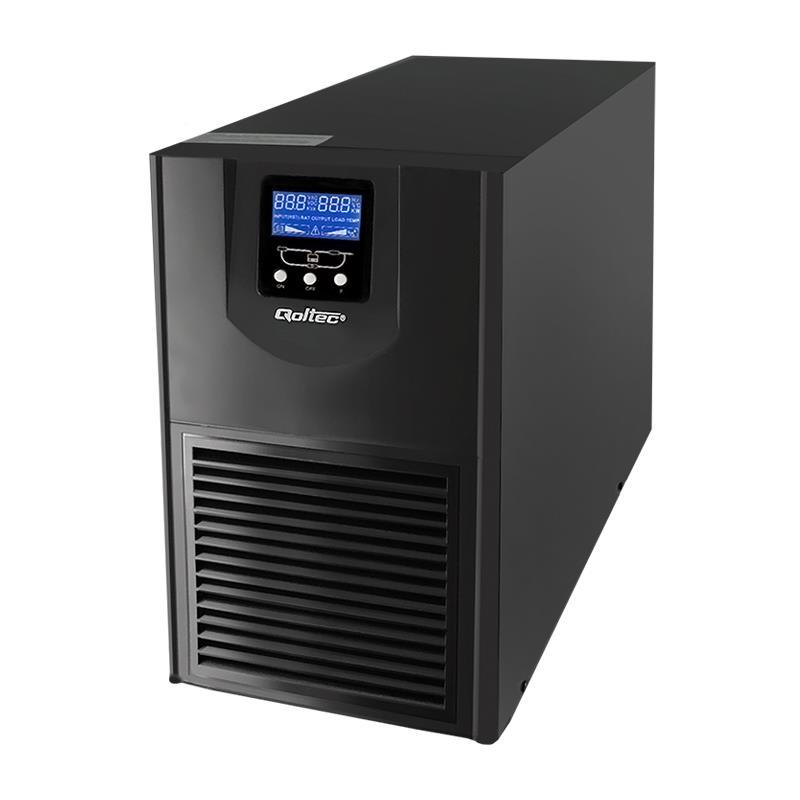Qoltec Nepřerušitelný zdroj napájení On-line | Pure Sine Wave | 1kVA 800W LCD