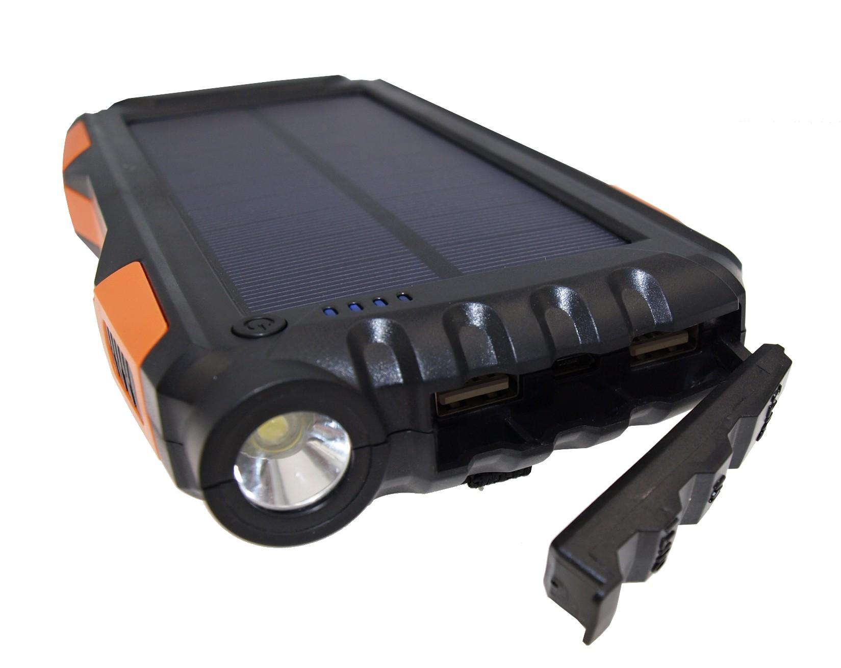 VIKING Solární Outdoorová Powerbanka B-25 25000mAh, Oranžová