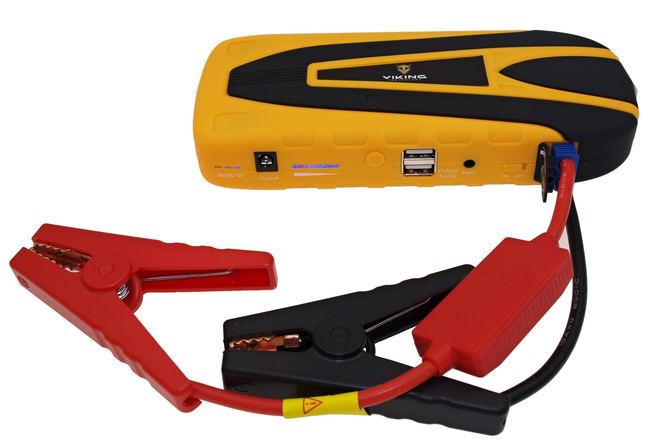 VIKING Car Jump Starter Zulu 16 16000mAh PLUS - Notebook powerbank, Žlutá