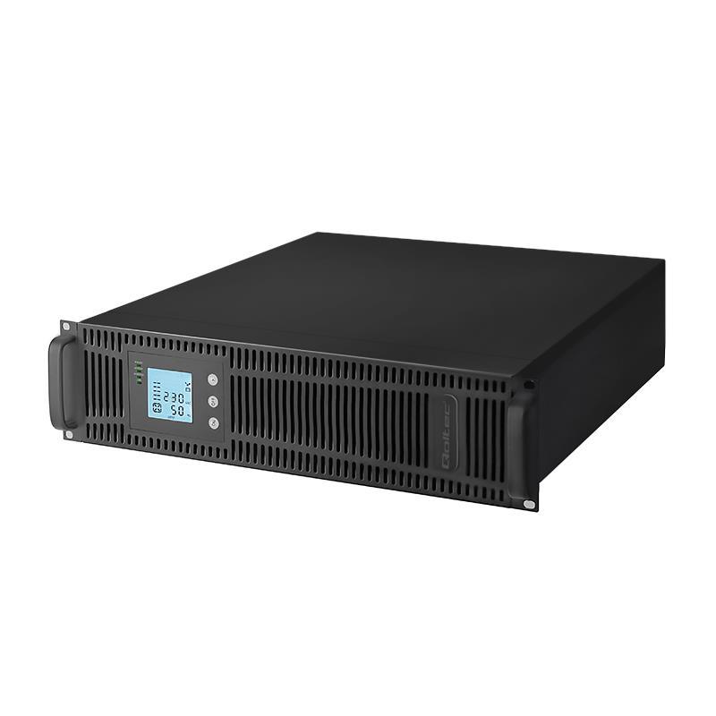 Qoltec Nepřerušitelný zdroj napájení UPS RACK 1KVA | 800W | LCD