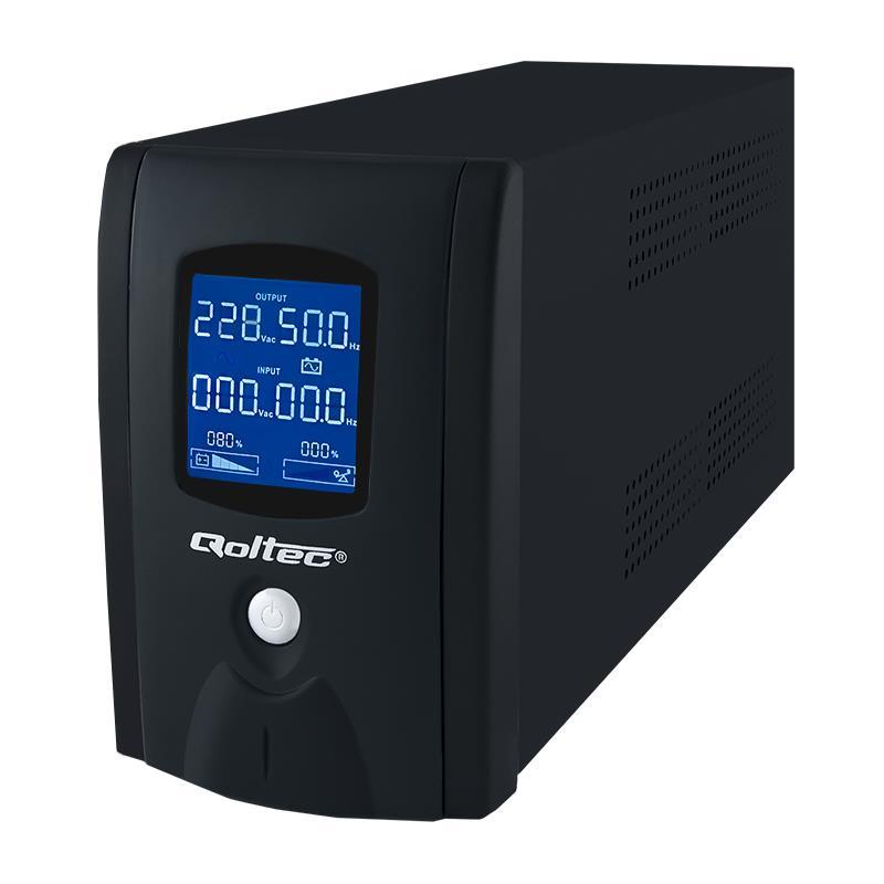 Qoltec ZDROJ NEPŘETRŽITÉHO NAPÁJENÍ 1000VA | 600W | LCD