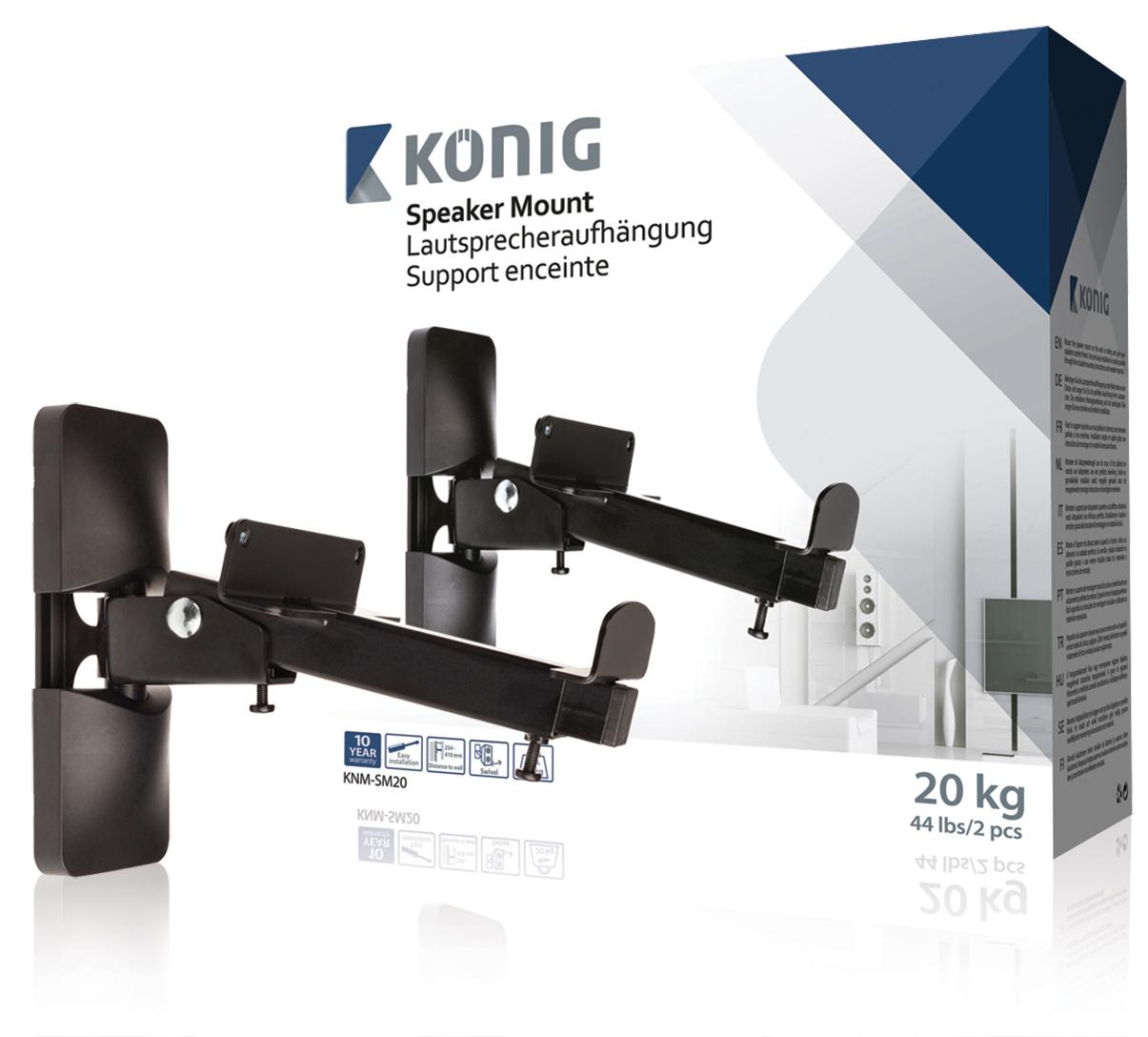 König KNM-SM20 - Držák reproduktoru, nosnost 20 kg, 2 ks