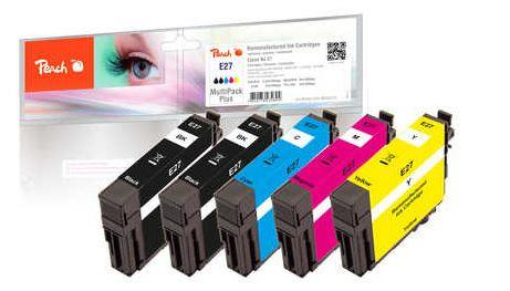 Multipack Peach PI200-524 | CMYBK | Epson No. 27 | + 1 inkoust black ZDARMA