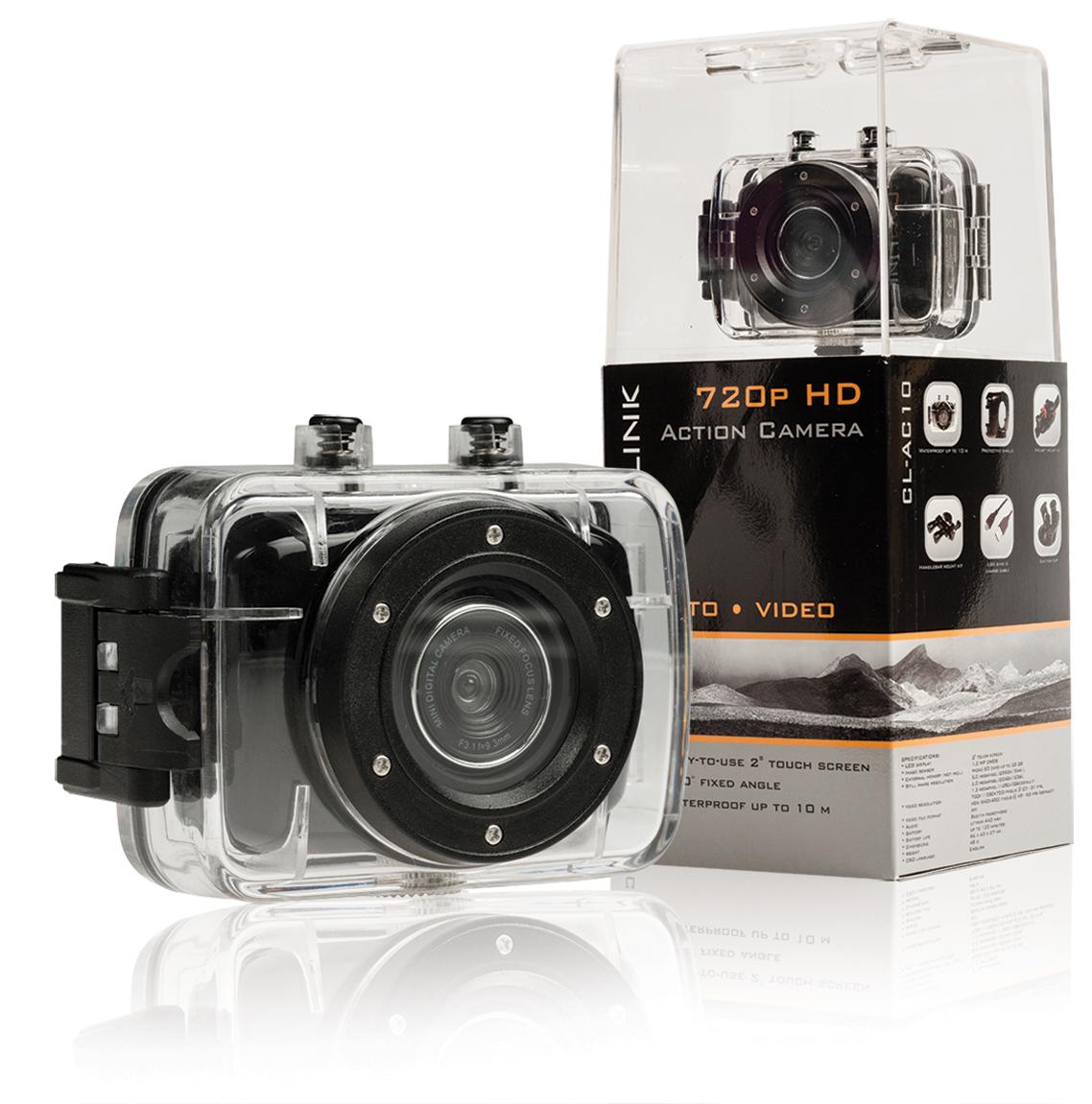 """VÝPRODEJ - CAMLINK Akční HD kamera 720p s 2"""" dotykovým displejem - CL-AC10"""